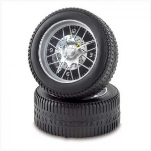 RACING TIRE ALARM CLOCK By NULL