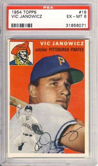 1954 Topps Vic Janowicz #16 PSA 6