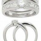 2.51ct BRILLIANT CUT SIMULATED DIAMOND ENGAGEMENT WEDDING RING SET