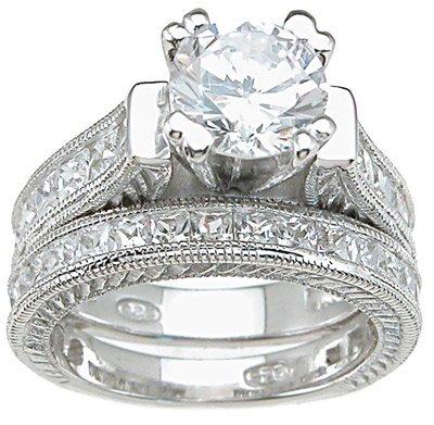 2.50ct BRILLIANT CUT SIMULATED DIAMOND ENGAGEMENT WEDDING RING SET