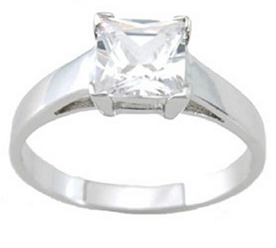 1.0ct PRINCESS CUT SIMULATED DIAMOND ENGAGEMENT WEDDING RING