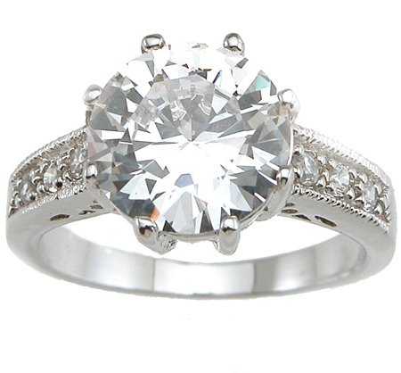 2.19ct BRILLIANT CUT SIMULATED DIAMOND ENGAGEMENT WEDDING RING