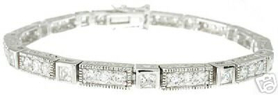 11.48ct BRILLIANT CUT SIMULATED DIAMOND BRACELET