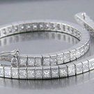 12.95ct PRINCESS CUT SIMULATED DIAMOND BRACELET