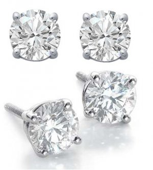 1.0ct ROUND BRILLIANT CUT SIMULATED DIAMOND EARRINGS