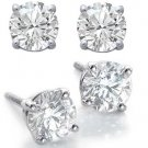 2.0ct ROUND BRILLIANT CUT SIMULATED DIAMOND EARRINGS