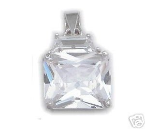 BEAUTIFUL 3.29 CARAT PRINCESS CUT PENDANT