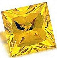 0.50CT CANARY PRINCESS CUT SIMULATED DIAMOND