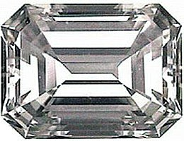 0.50CT FLAWLESS EMERALD-CUT SIMULATED DIAMOND