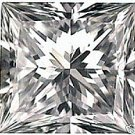 0.50CT FLAWLESS PRINCESS CUT SIMULATED DIAMOND