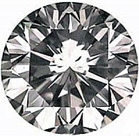 0.50CT FLAWLESS ROUND CUT SIMULATED DIAMOND