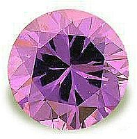 1.00CT ROUND CUT AMETHYST SIMULATED DIAMOND
