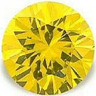 1.00CT ROUND CUT CANARY SIMULATED DIAMOND