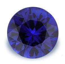 1.0CT FLAWLESS ROUND CUT SAPPHIRE SIMULATED DIAMOND