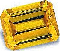 1.00CT EMERALD-CUT CANARY SIMULATED DIAMOND