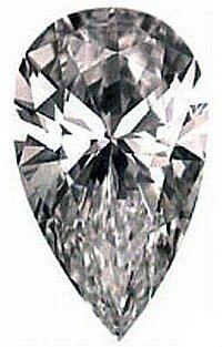 1.00CT FLAWLESS PEAR CUT SIMULATED DIAMOND