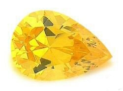 1.00CT PEAR CUT CANARY SIMULATED DIAMOND