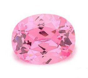 1.00CT FLAWLESS PINK OVAL CUT SIMULATED DIAMOND