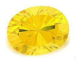 1.00CT OVAL CUT CANARY SIMULATED DIAMOND
