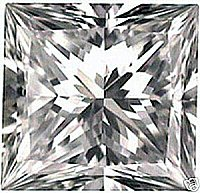 1.00CT FLAWLESS PRINCESS CUT SIMULATED DIAMOND