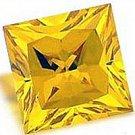 1.00CT PRINCESS CUT CANARY SIMULATED DIAMOND