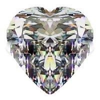1.00CT FLAWLESS HEART CUT RUSSIAN SIMULATED DIAMOND
