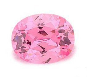 1.50CT FLAWLESS PINK OVAL CUT SIMULATED DIAMOND