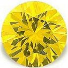 2.00CT ROUND CUT CANARY SIMULATED DIAMOND
