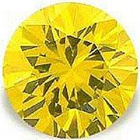 2.00CT ROUND CUT CANARY SIMULATED DIAMOND