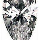 2.00CT FLAWLESS PEAR CUT SIMULATED DIAMOND