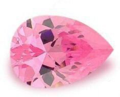 2.00CT FLAWLESS PINK PEAR CUT SIMULATED DIAMOND