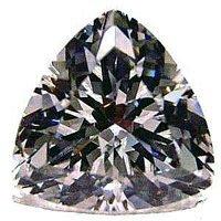 2.00CT FLAWLESS TRILLION CUT SIMULATED DIAMOND