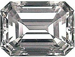 2.50CT FLAWLESS EMERALD-CUT SIMULATED DIAMOND