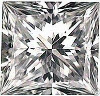 3.00CT FLAWLESS PRINCESS CUT SIMULATED DIAMOND
