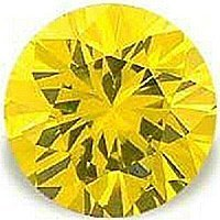 3.00CT ROUND CUT CANARY SIMULATED DIAMOND