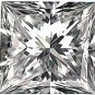 4.00CT FLAWLESS PRINCESS CUT SIMULATED DIAMOND