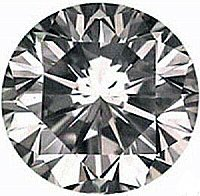 4.00CT FLAWLESS ROUND CUT SIMULATED DIAMOND