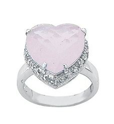 2.90ct HEART CUT SIMULATED DIAMOND ENGAGEMENT WEDDING RING