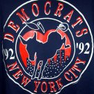 RARE VINTAGE 1992 DEMOCRATIC CONVENTION Large T-SHIRT New York City NYC ~DNC