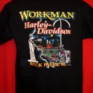 Harley Davidson Med/Large Dealer T-Shirt Vintage 1997 Rock Falls, Illinois  Ride Hard