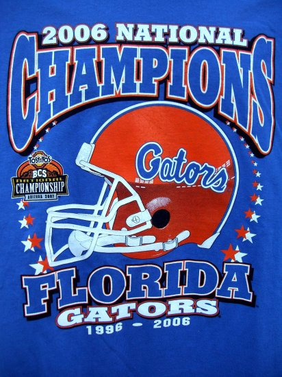 SOLD! New 2006 Florida GATOR XL T-Shirt National Champions