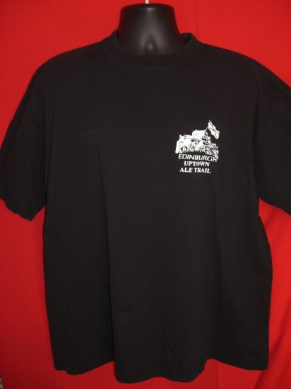 SOLD! EDINBURGH SCOTLAND PUB SCOTCH SCOTTISH ALE TRAIL XL Black T SHIRT Tavern Bar