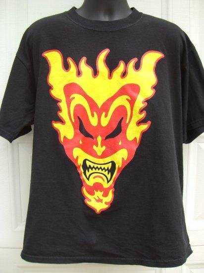 SOLD! ICP Insane Clown Posse XL Black T-Shirt Jester /Joker 1999 Hard to find!