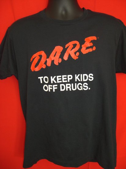SOLD! D.A.R.E. DARE Medium Black T-Shirt VINTAGE KEEP KIDS OFF DRUGS