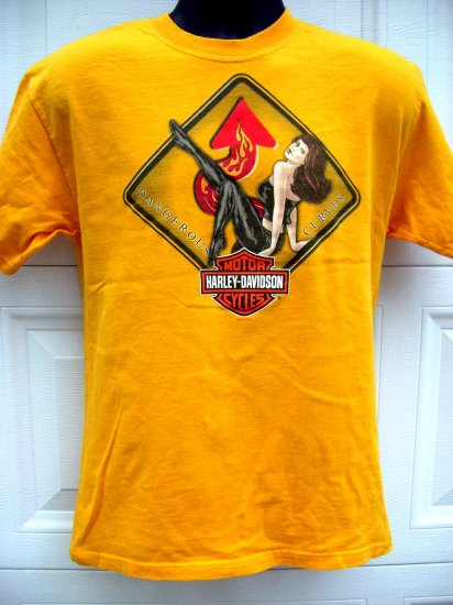 SOLD! Ladies HARLEY DAVIDSON Size Medium T-SHIRT DEALER MYRTLE BEACH South Carolina SC Woman's
