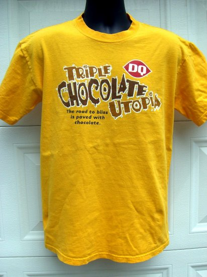 "SOLD! DQ Dairy Queen Promotional SIZE Medium T SHIRT ""TRIPLE CHOCOLATE UTOPIA"""