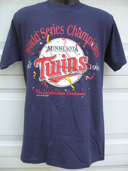 SOLD! MINNESOTA TWINS Vintage 1981 World Series Champions Medium T-Shirt