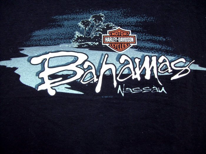 SOLD! Harley Davidson XXL 1997 T-SHIRT Bahamas Nassau After All These Years If I Have to Explain