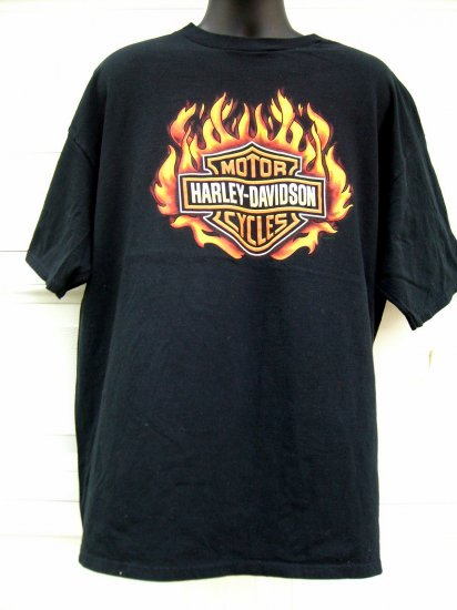SOLD! HARLEY DAVIDSON XXL or XXXL Flames T-SHIRT ~ Dallas TEXAS TX DEALER 1998