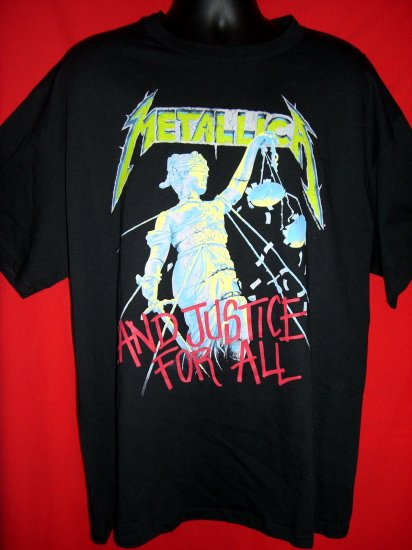 SOLD! Metallica XL T-Shirt 1994 JUSTICE FOR ALL EXCELLENT VINTAGE!